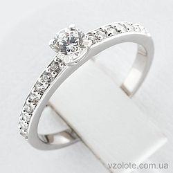 Золотое кольцо с фианитами (арт. 140271б)