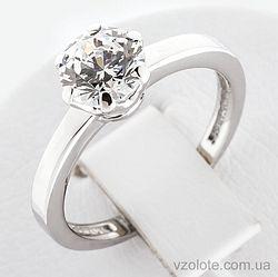 Золотое кольцо с фианитом (арт. 140361б)