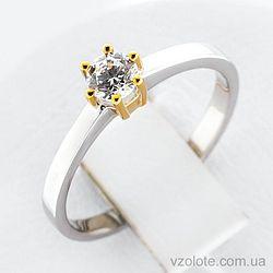 Золотое кольцо с фианитом (арт. 140627бж)