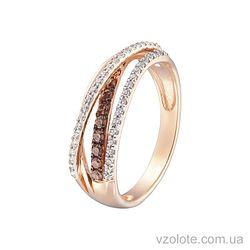 Золотое кольцо с фианитами (арт. 1190878101)