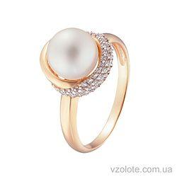 Золотое кольцо с жемчугом (арт. 1191013101)