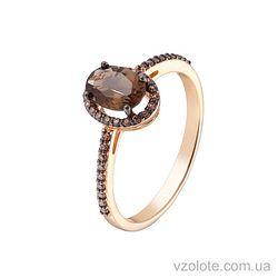 Золотое кольцо с раухтопазом (арт. 1191062101)
