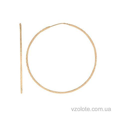 Золотые серьги-кольца (арт. 2002453101)