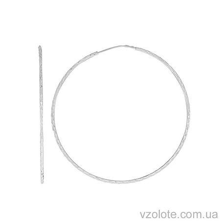 Золотые серьги-кольца (арт. 2002453102)