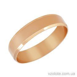 Золотое обручальное кольцо классическое Европейское (арт. 1005)