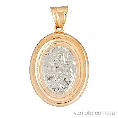 Золотая ладанка Божья Матерь Почаевская (арт. 120202)