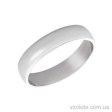 Обручальное кольцо классическое из белого золота (арт. 1004б)