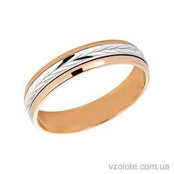 Золотое обручальное кольцо антистресс (арт. 1051-1)