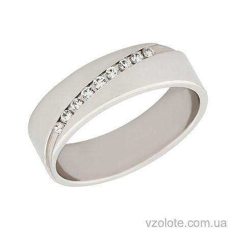 Золотое обручальное кольцо с фианитами (арт. 422774к)