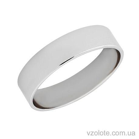 Обручальное кольцо в белом золоте с комфортной посадкой (арт. 421774)