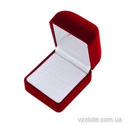 Футляр для ювелирных украшений бархатный бордовый (арт. квфб-1)