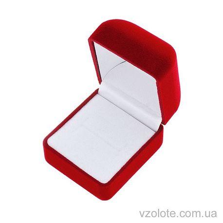 Футляр для ювелирных украшений бархатный красный (арт. квфк-1)
