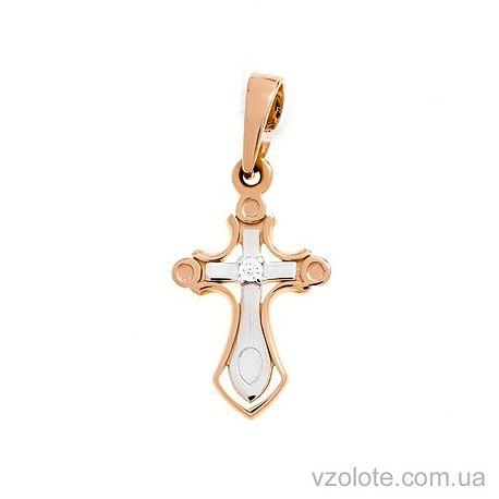 Золотой крестик с фианитом (арт. 440539)