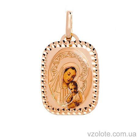 Золотая ладанка с эмалью Божья Матерь (арт. 421540)