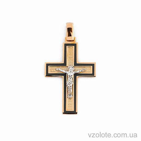 Золотой крестик с эмалью (арт. 505014с)