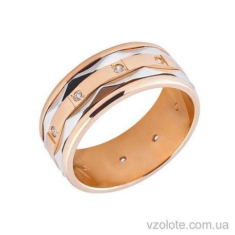 Золотое обручальное кольцо с фианитами (цирконием) (арт. 1054)