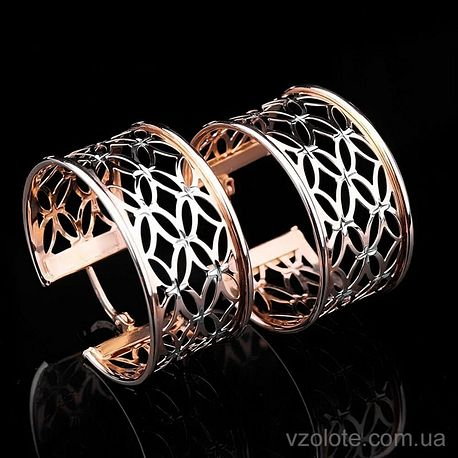Золотые серьги кольца Ажур (арт. с00891)