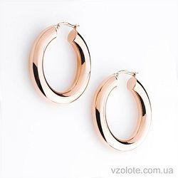 Золотые серьги-кольца без камней (арт. с01279)