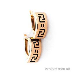 Золотые серьги с каучуком (арт. 930009)