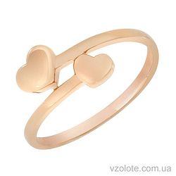 Золотое кольцо Сердечки (арт. 1002858101)
