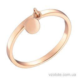 Золотое кольцо с подвеской Круг (арт. 1002891101)