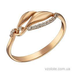 Золотое кольцо с фианитами (арт. 1191282101)