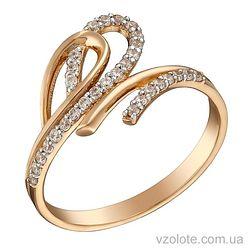 Золотое кольцо с фианитами (арт. 1191283101)