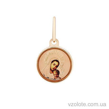 Золотая ладанка с эмалью Богородица (арт. 3102192101)