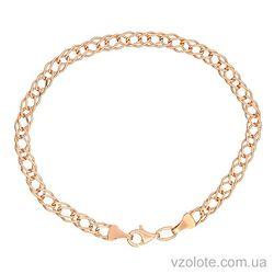 Золотой браслет двойной ромб (арт. 4092327101)