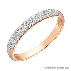 Золотое кольцо Дорожка в три ряда (арт. 1190630101)
