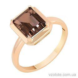 Золотое кольцо с раухтопазом (арт. 1190729101рт)