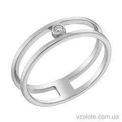 Золотое кольцо с фианитом (арт. 1101131102)