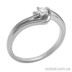 Золотое кольцо с фианитом (арт. 1101468102)