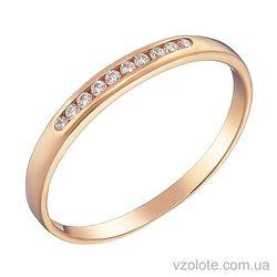 Золотое кольцо с фианитами (арт. 1101485101)