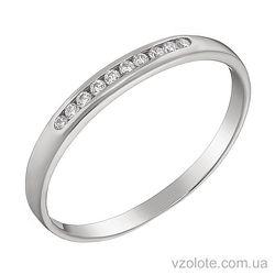 Золотое кольцо с фианитами (арт. 1101485102)