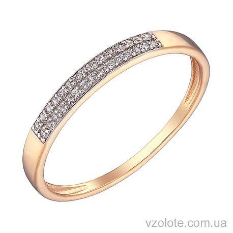 Золотое кольцо с фианитами (арт. 1101487101)