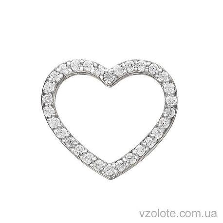 Золотой кулон с фианитами Сердце (арт. 3102422102)
