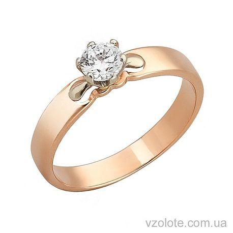 Золотое кольцо с фианитом (арт. 330193)