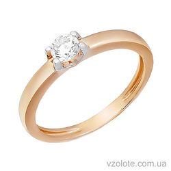 Золотое кольцо с фианитом (арт. 1191119101)