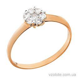 Золотое кольцо с фианитами (арт. 140622)