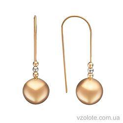 Золотые серьги-петли Шары (арт. 2002675112)