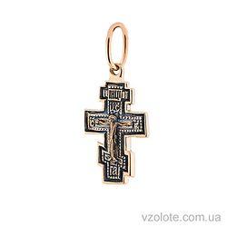 Золотой крестик с чернением (арт. п01848)