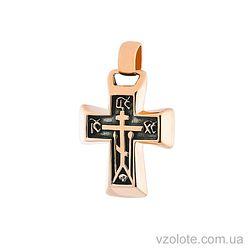 Золотой крест с чернением (арт. п02018)