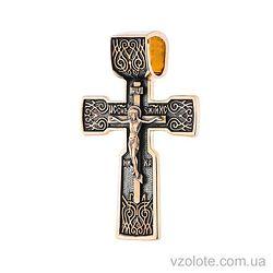 Золотой крест с чернением (арт. п02415)
