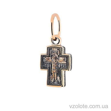 Золотой крестик с чернением (арт. п02663)