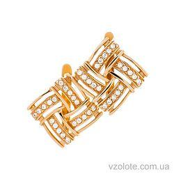 Золотые серьги с фианитами Дарлинг (арт. 21057501)