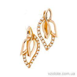 Золотые серьги с фианитами Анжела (арт. 21062201)