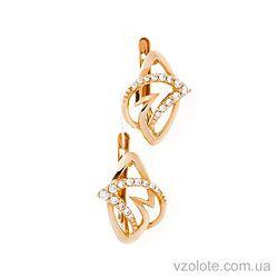Золотые серьги с фианитами Карина (арт. 21090801)
