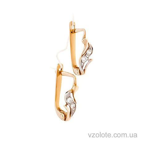 Золотые серьги с фианитами (арт. 2118)