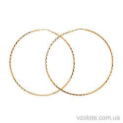 Серьги-кольца с алмазной огранкой (арт. 100024)